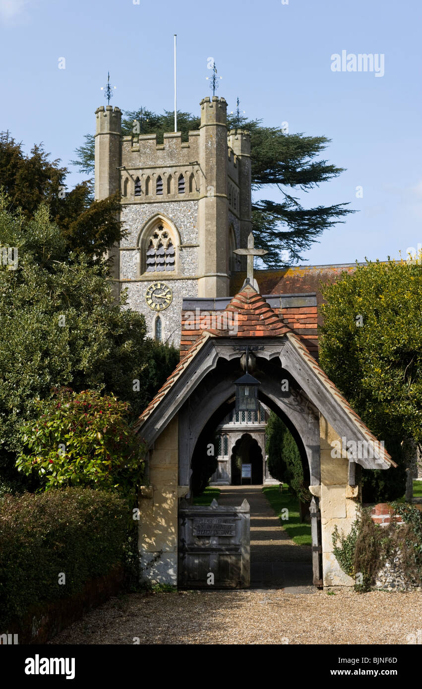 St Mary the Virgin Hambleden Parish Church Buckinghamshire UK - Stock Image