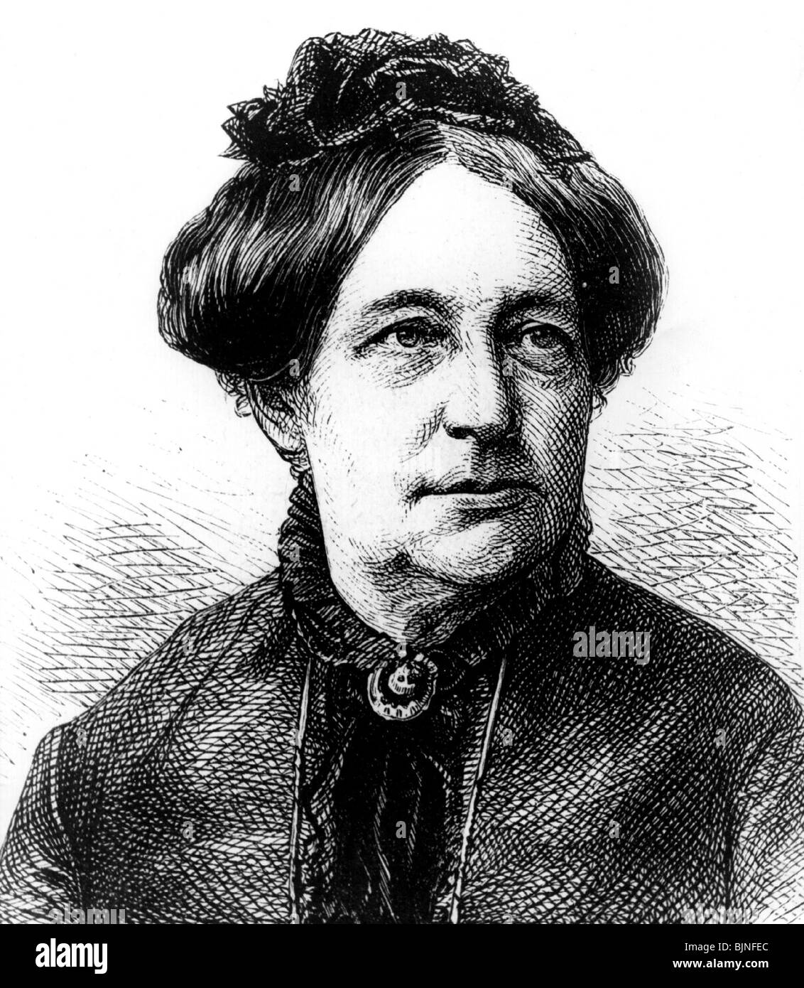 Otto-Peters, Luise, 26.3.1819 - 13.3.1895, German author / writer, feminist, portrait, wood engraving, 19th century, - Stock Image