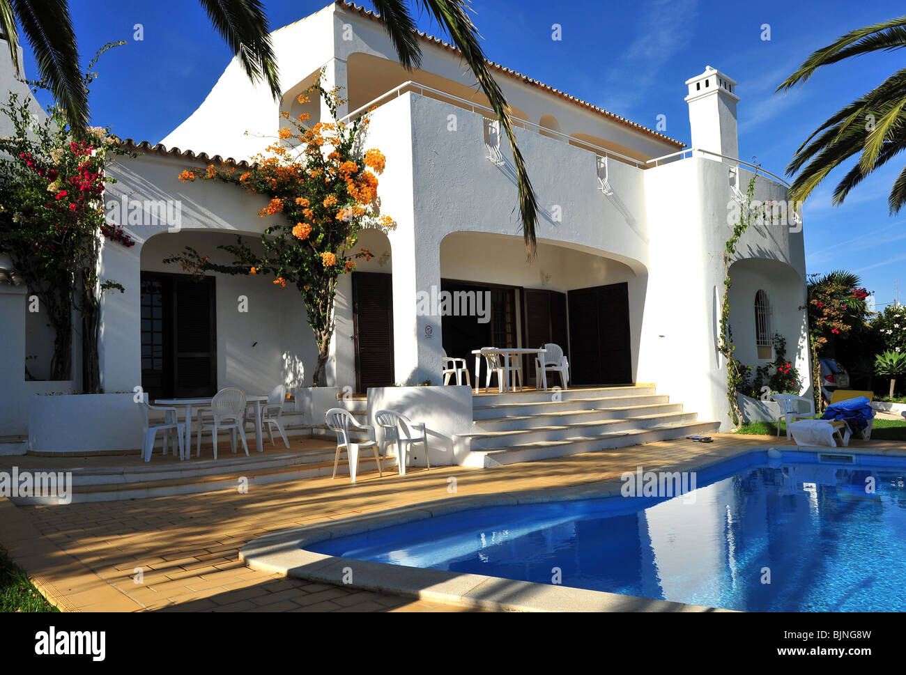 Private Villas In Portugal holiday vacation villa with a shady private swimming pool