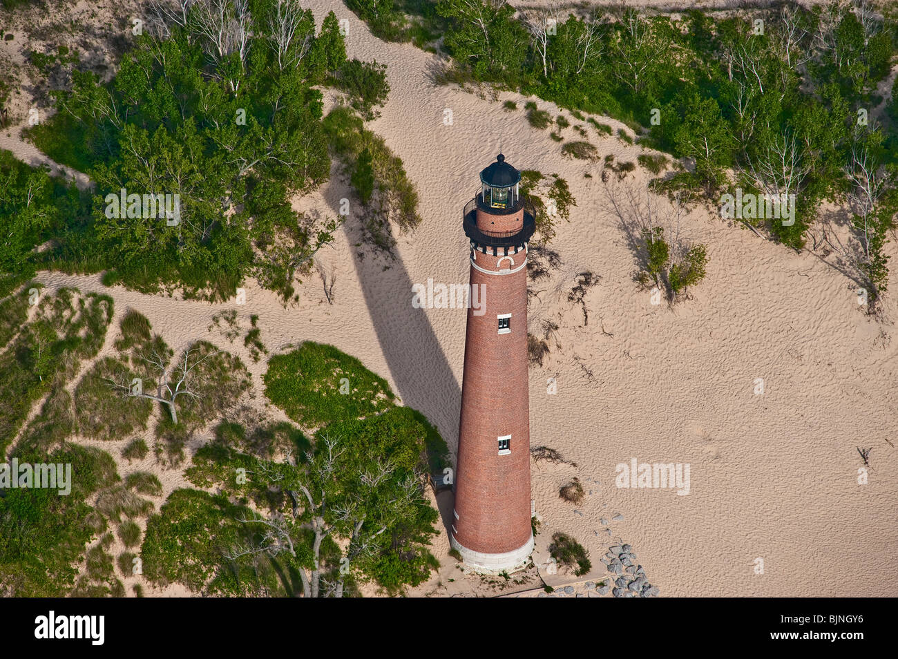 Little Sable Point Light house in Michigan, USA - Stock Image