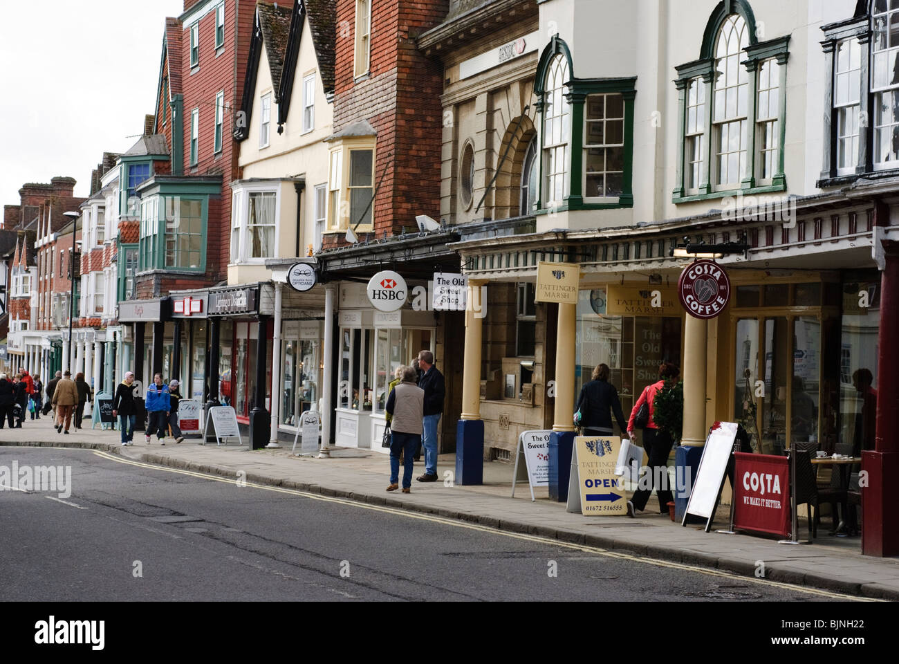 Marlborough High Street Wiltshire Uk Stock Photos