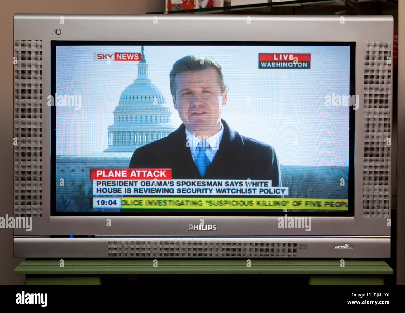 tv screen showing sky news channel stock photo 28749224 alamy