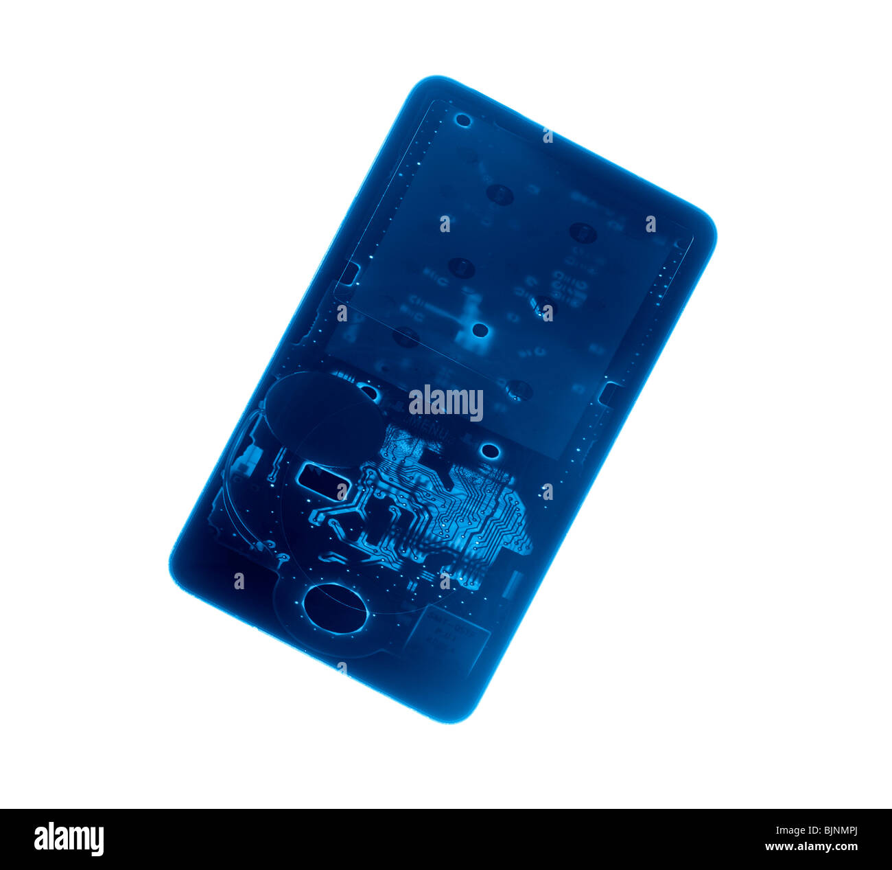 Card, electronic circuit, transparency, technology, Blue - Stock Image