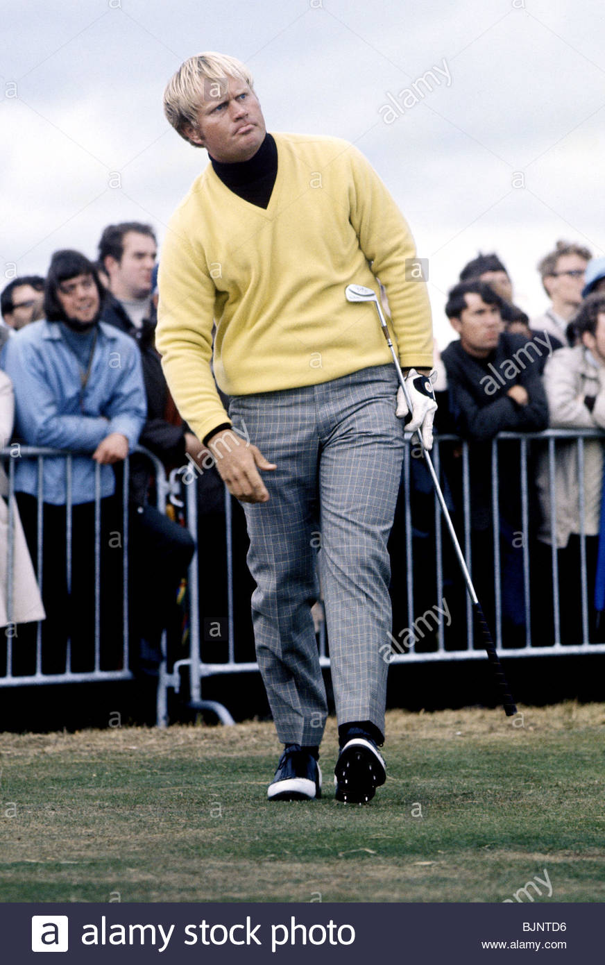 1969/1970 Golfer Jack Nicklaus in action - Stock Image