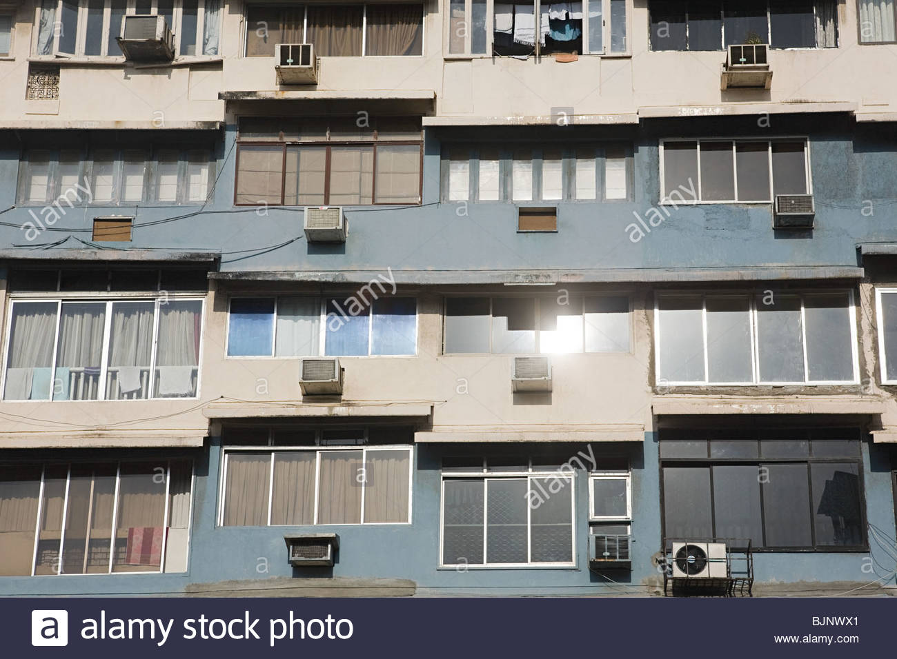 Facade of a building - Stock Image