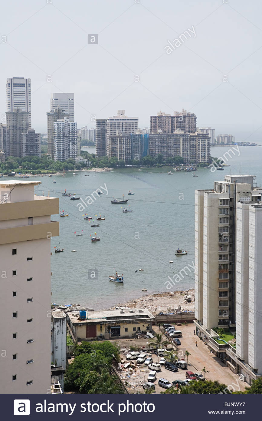 Multistorey structures and the sea - Stock Image