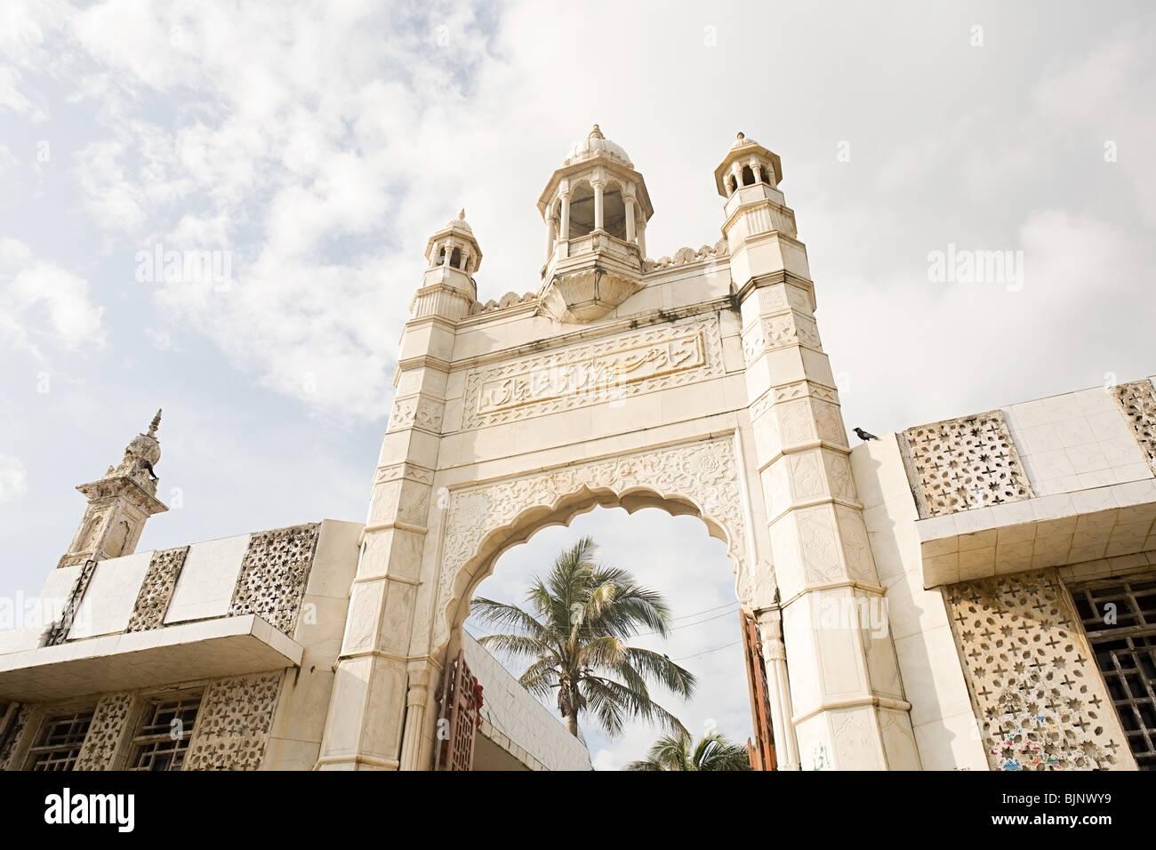 Entrance haji ali dargah - Stock Image