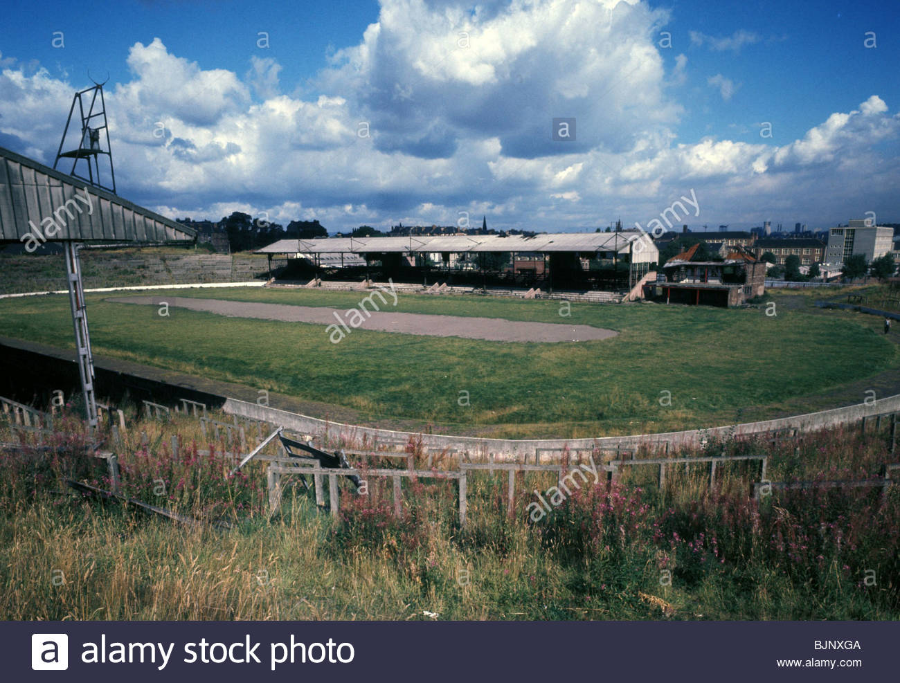 SEASON 1972/1973 Cathkin Park, the former ground of Third Lanark who went into extinction in 1967. - Stock Image