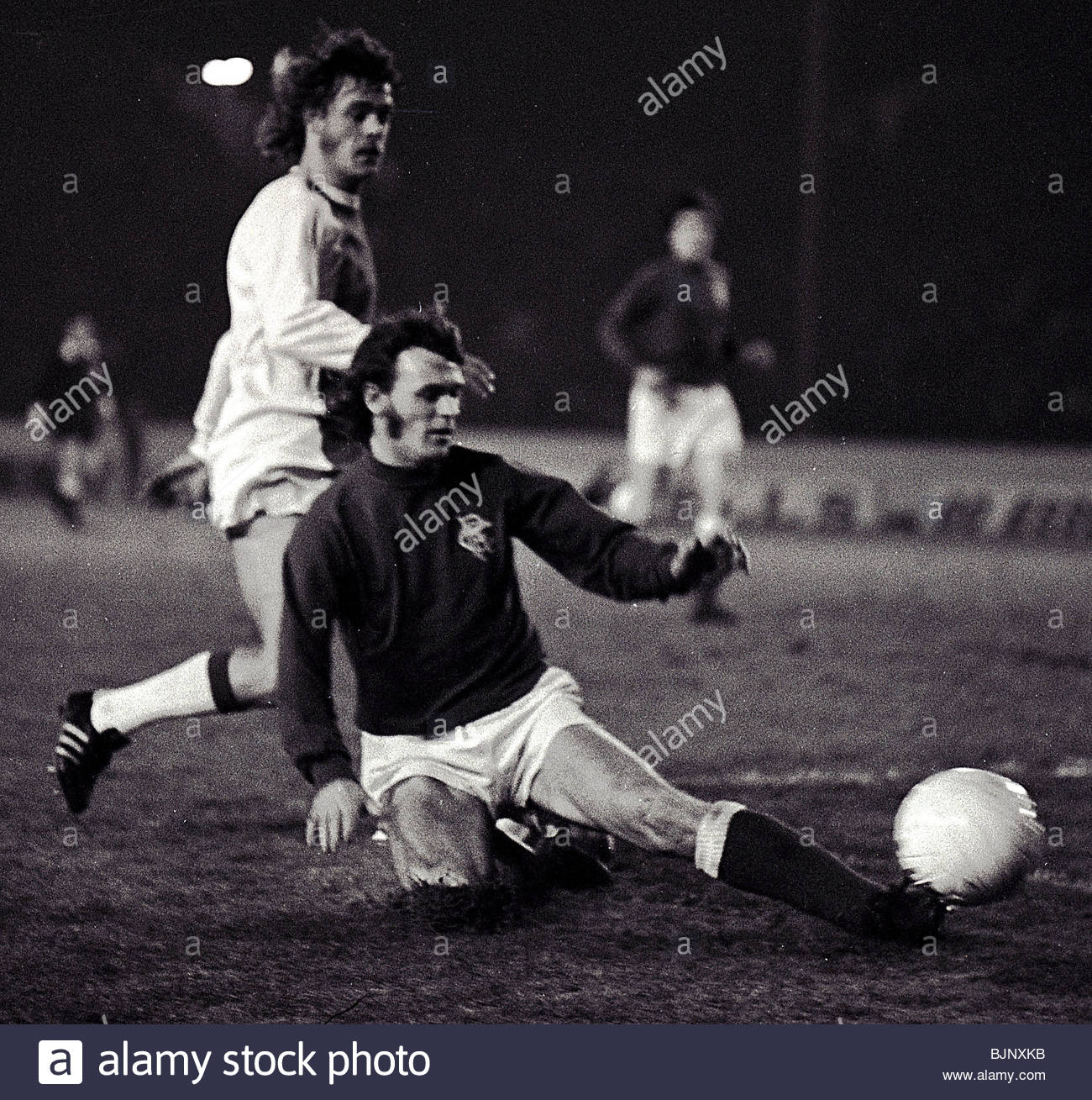 16/01/73 UEFA SUPER CUP FINAL 1ST LEG RANGERS v AJAX IBROX - GLASGOW Willie Mathieson (right) of Rangers - Stock Image