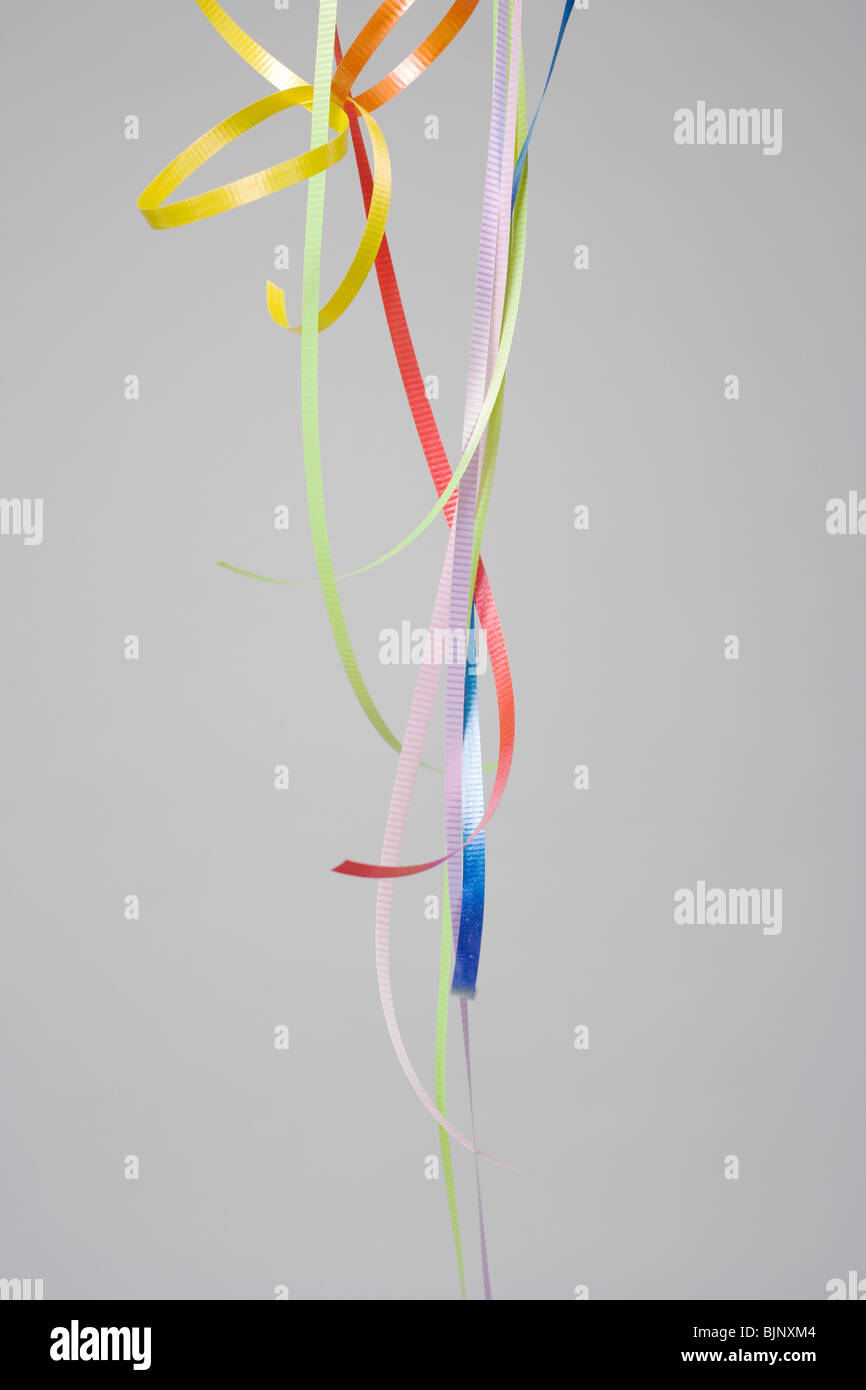 Coloured ribbons - Stock Image