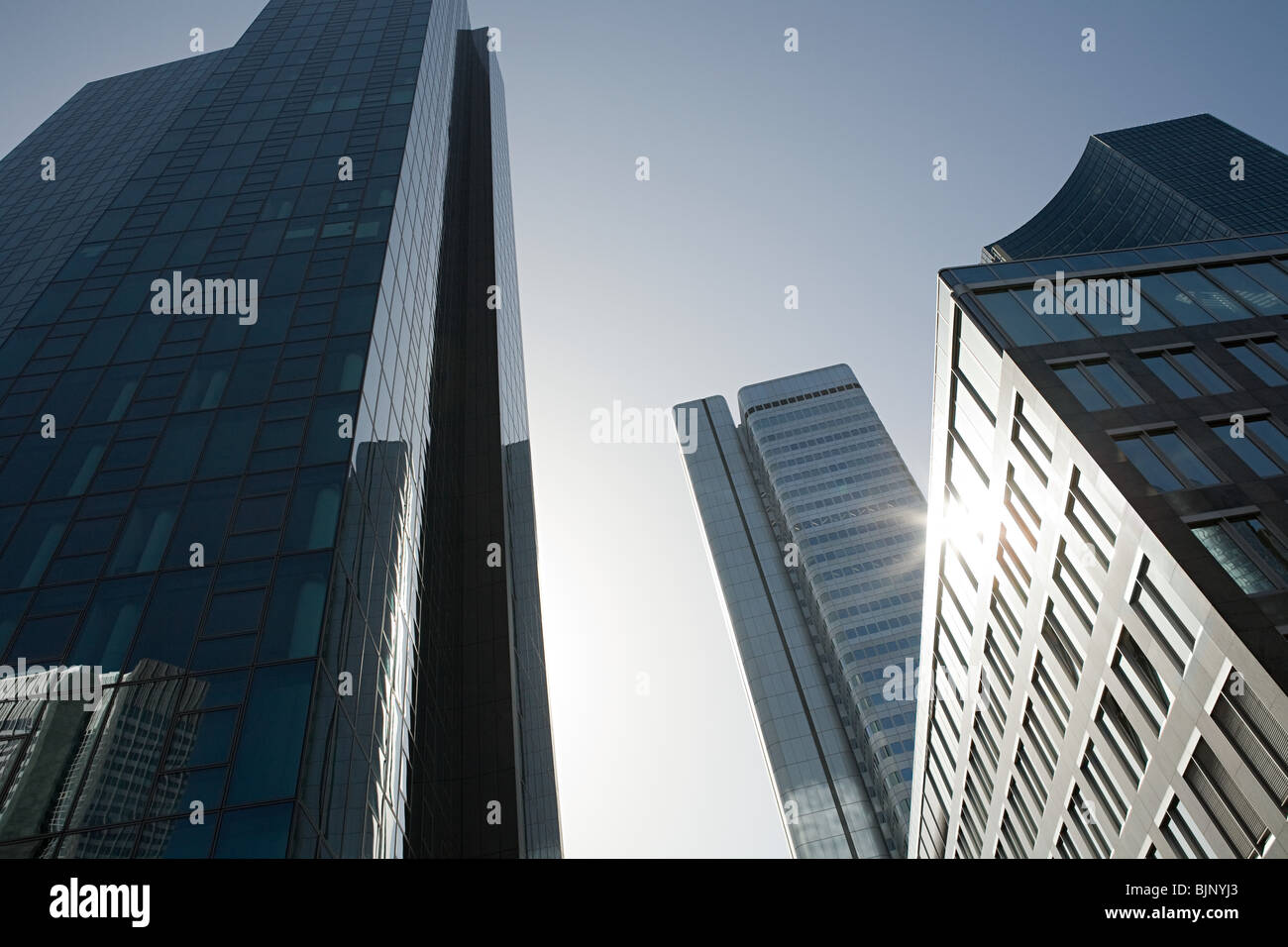 Office buildings in frankfurt - Stock Image