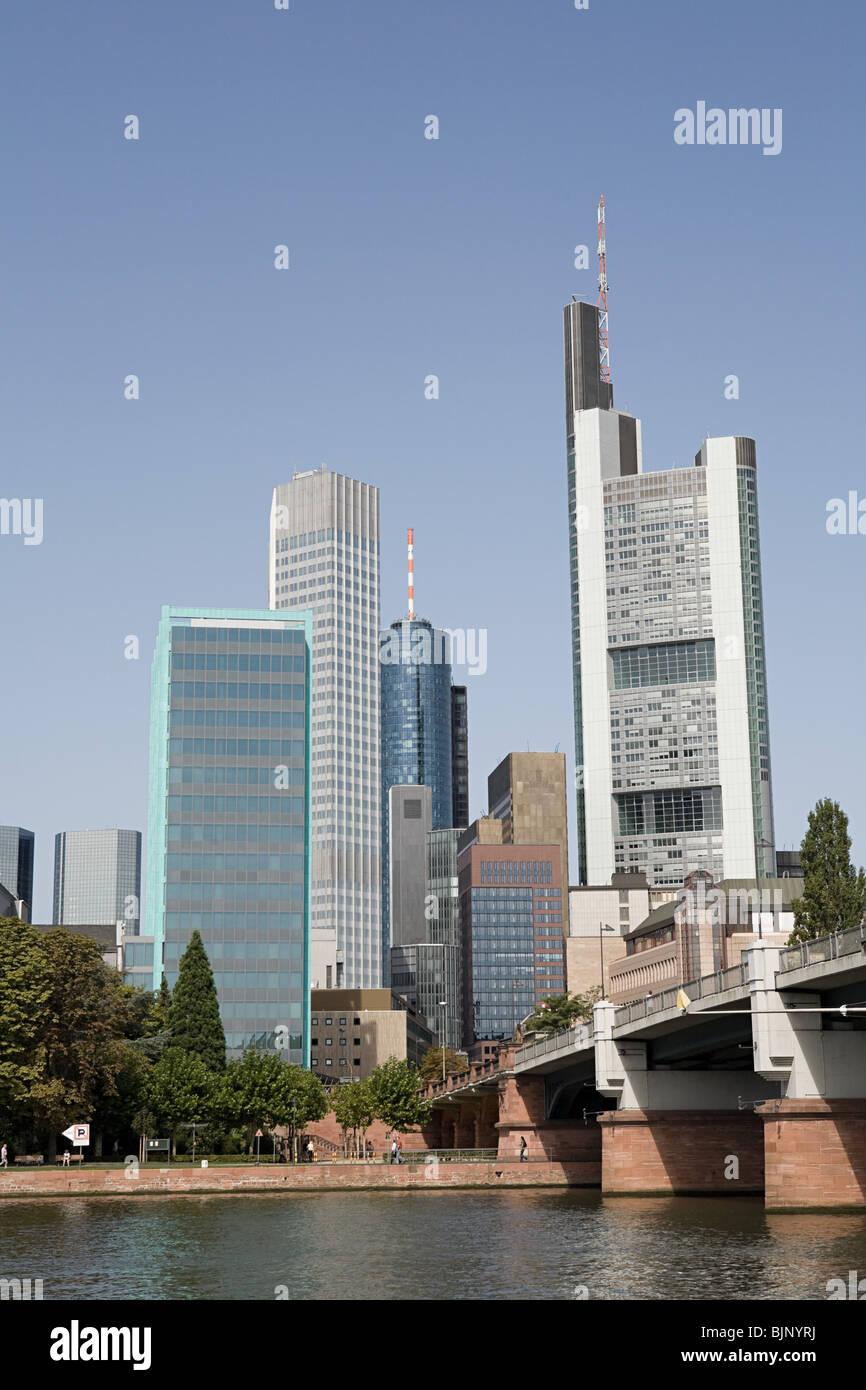 Frankfurt skyscrapers Stock Photo
