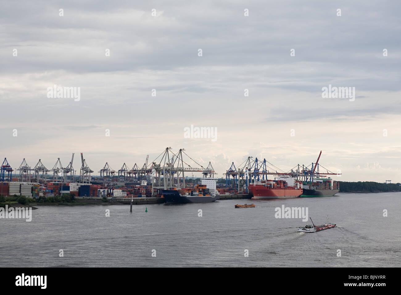 Hamburg harbour - Stock Image