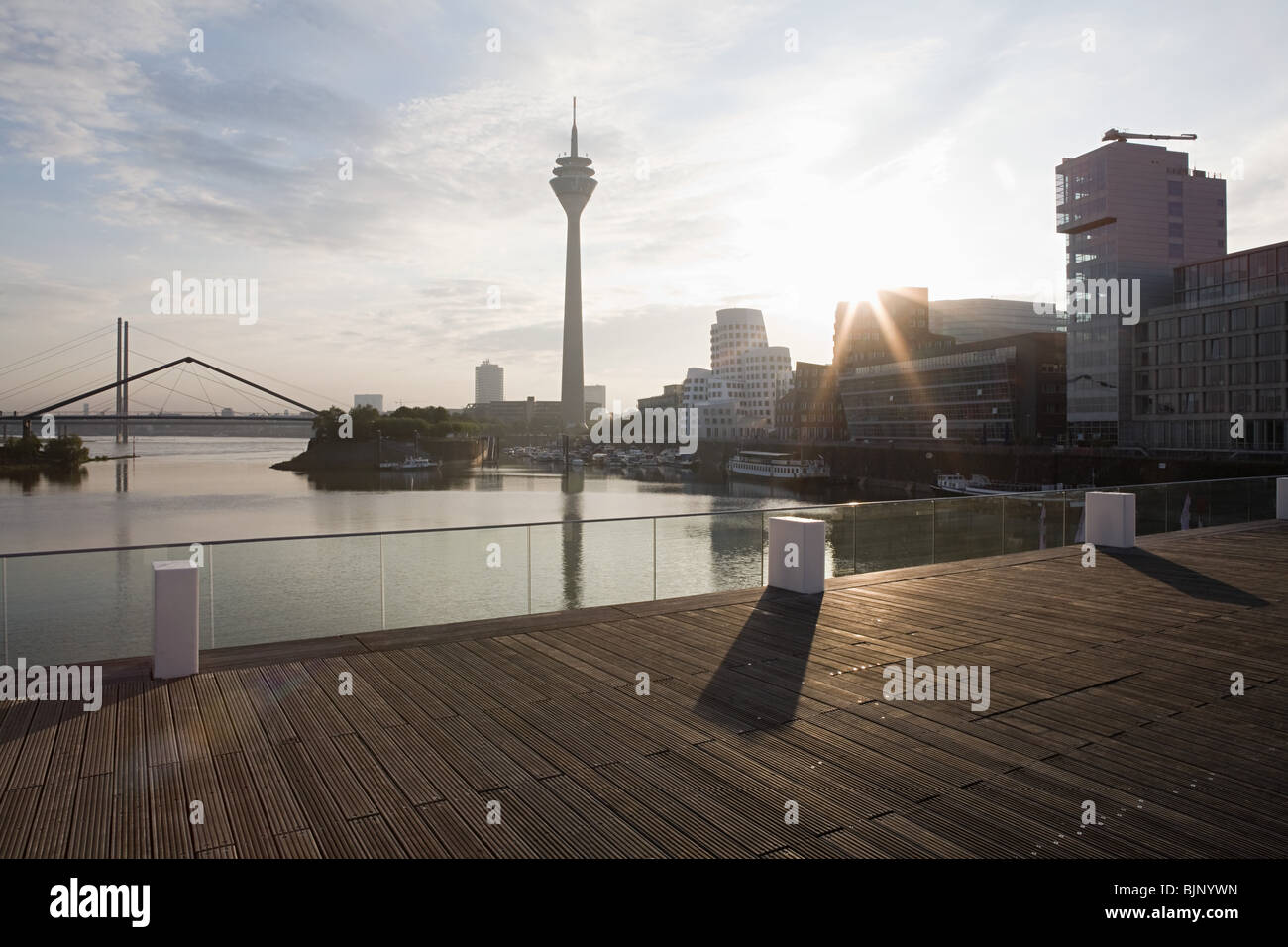 Dusseldorf media harbour - Stock Image