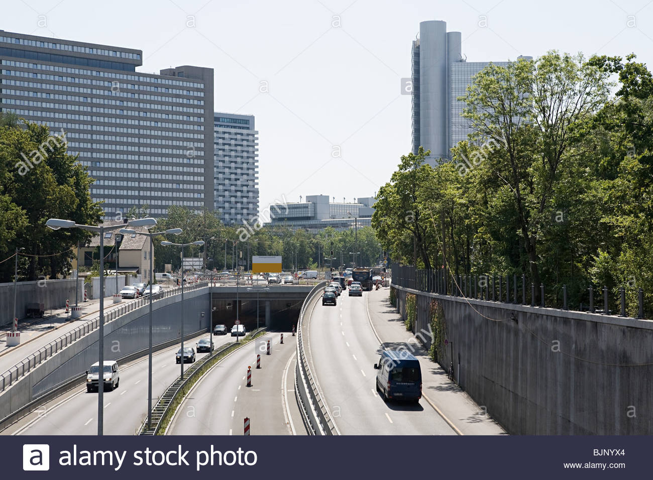 City motorway in munich Stock Photo