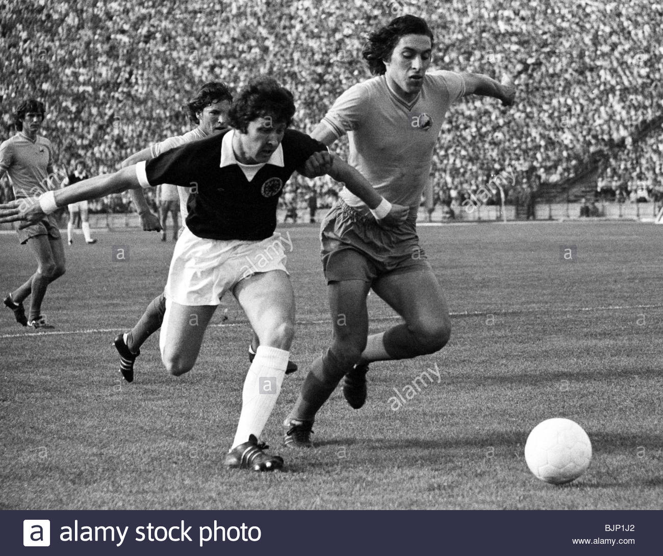 01/06/75 EUROPEAN CHAMPIONSHIP QUALIFIER ROMANIA V SCOTLAND (1-1) 23 AUGUST STADIONUL - BUCHAREST Scotland's - Stock Image