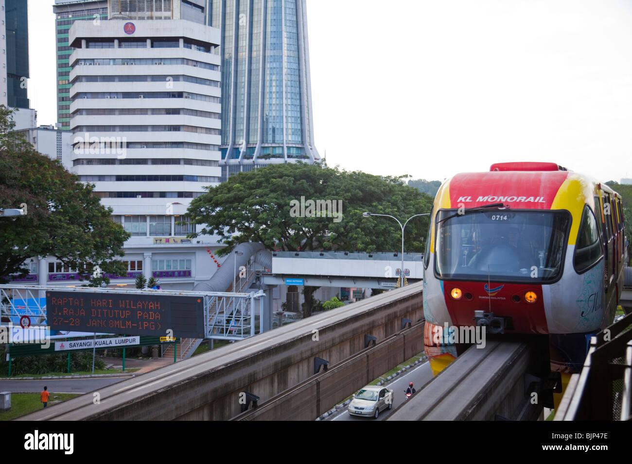 Malaysia Kuala Lumpur Mono Rail commuter train - Stock Image