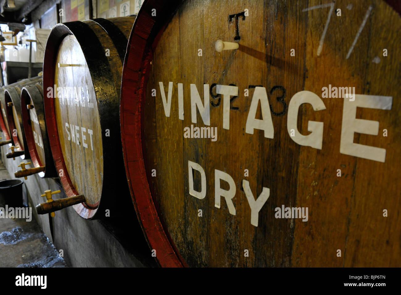 cider barrels Stock Photo