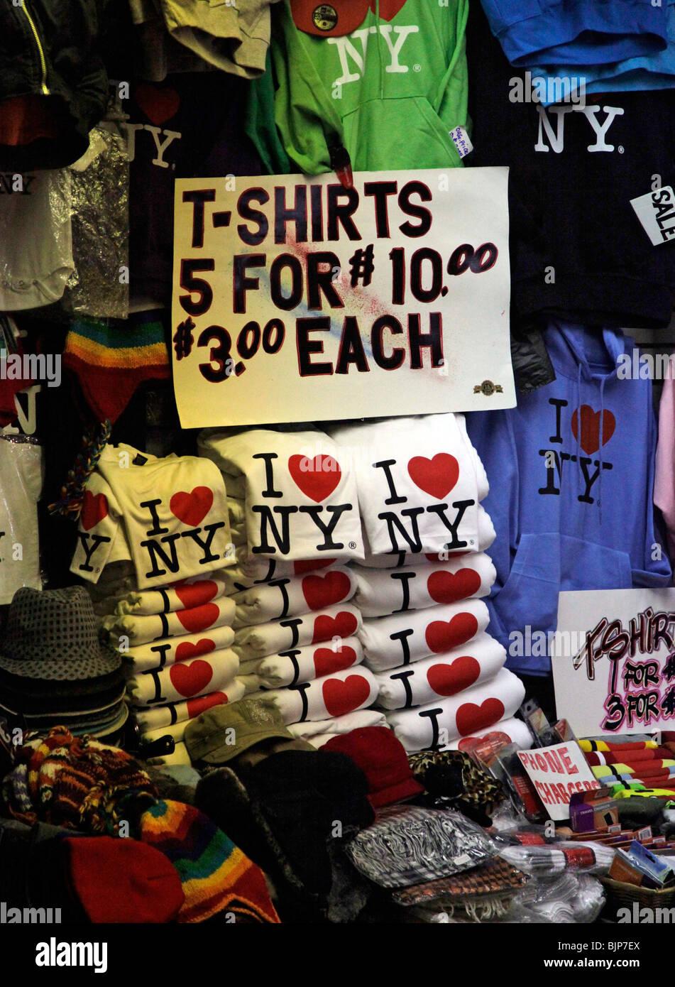 I love NY tee shirt - Stock Image