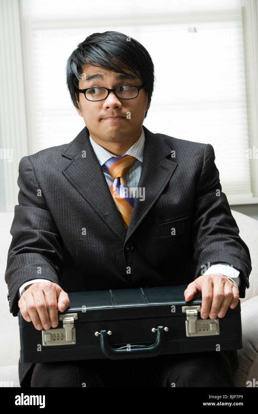 Man waiting for interview - Stock Image