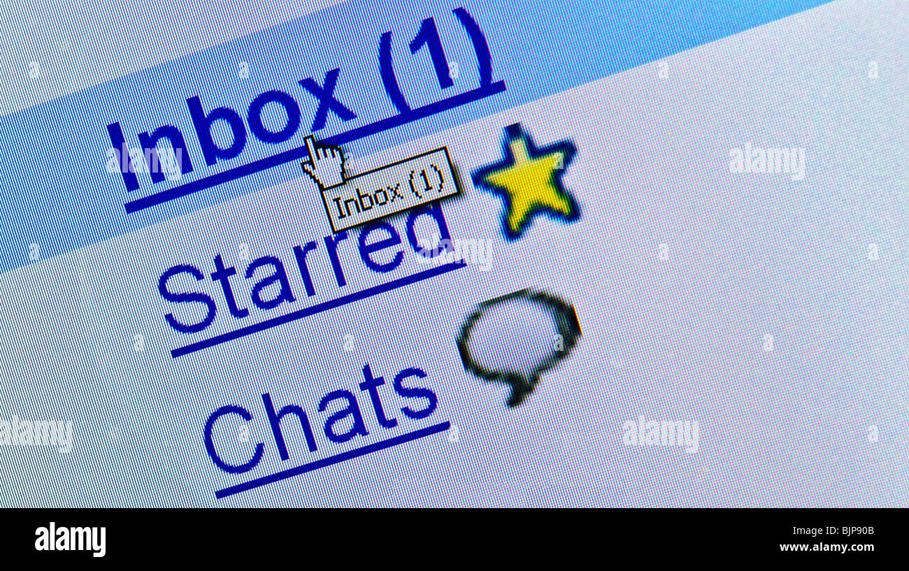 New message in e-mail box - Stock Image