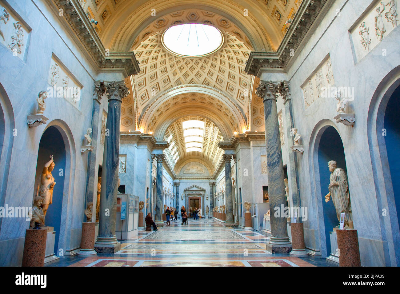Rome, Vatican City, Vatican Museums, Braccio Nuovo of the Chiaramonti Museum - Stock Image