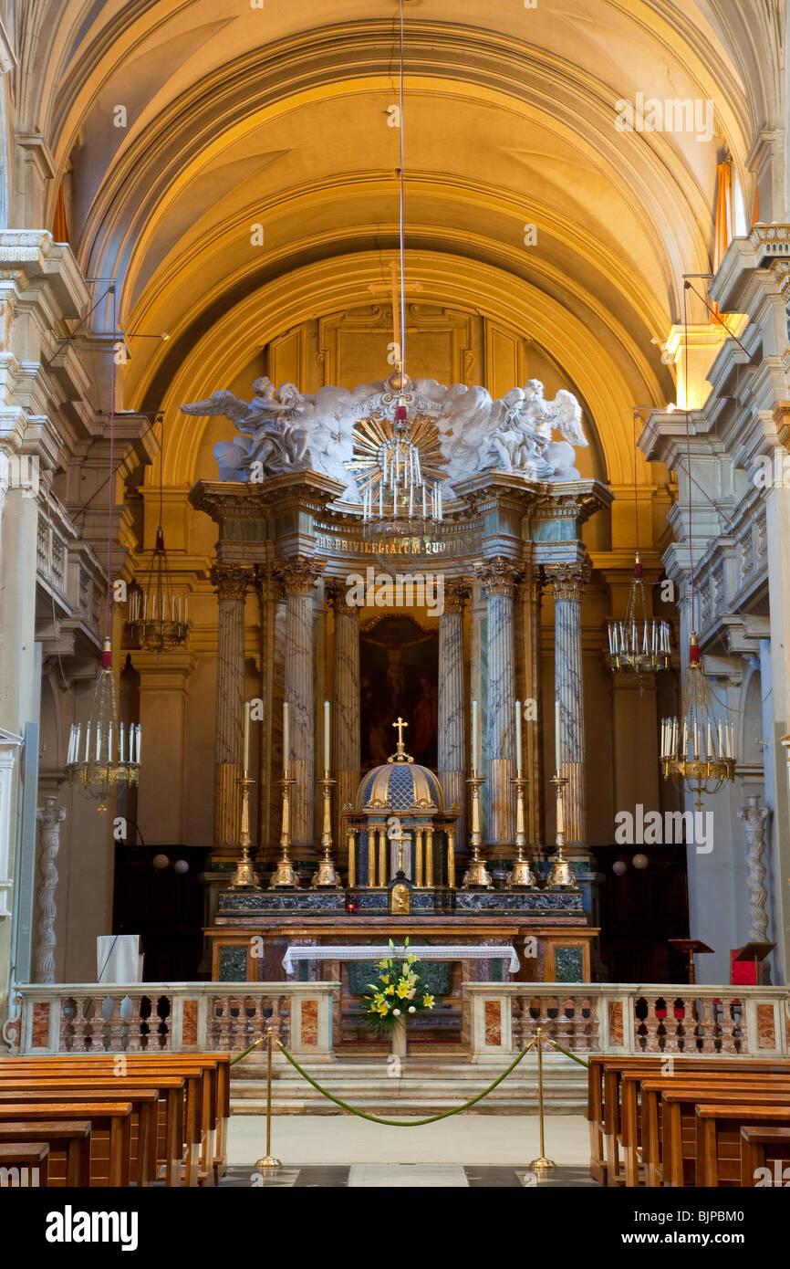Trinita dei Monti church, Rome - Stock Image