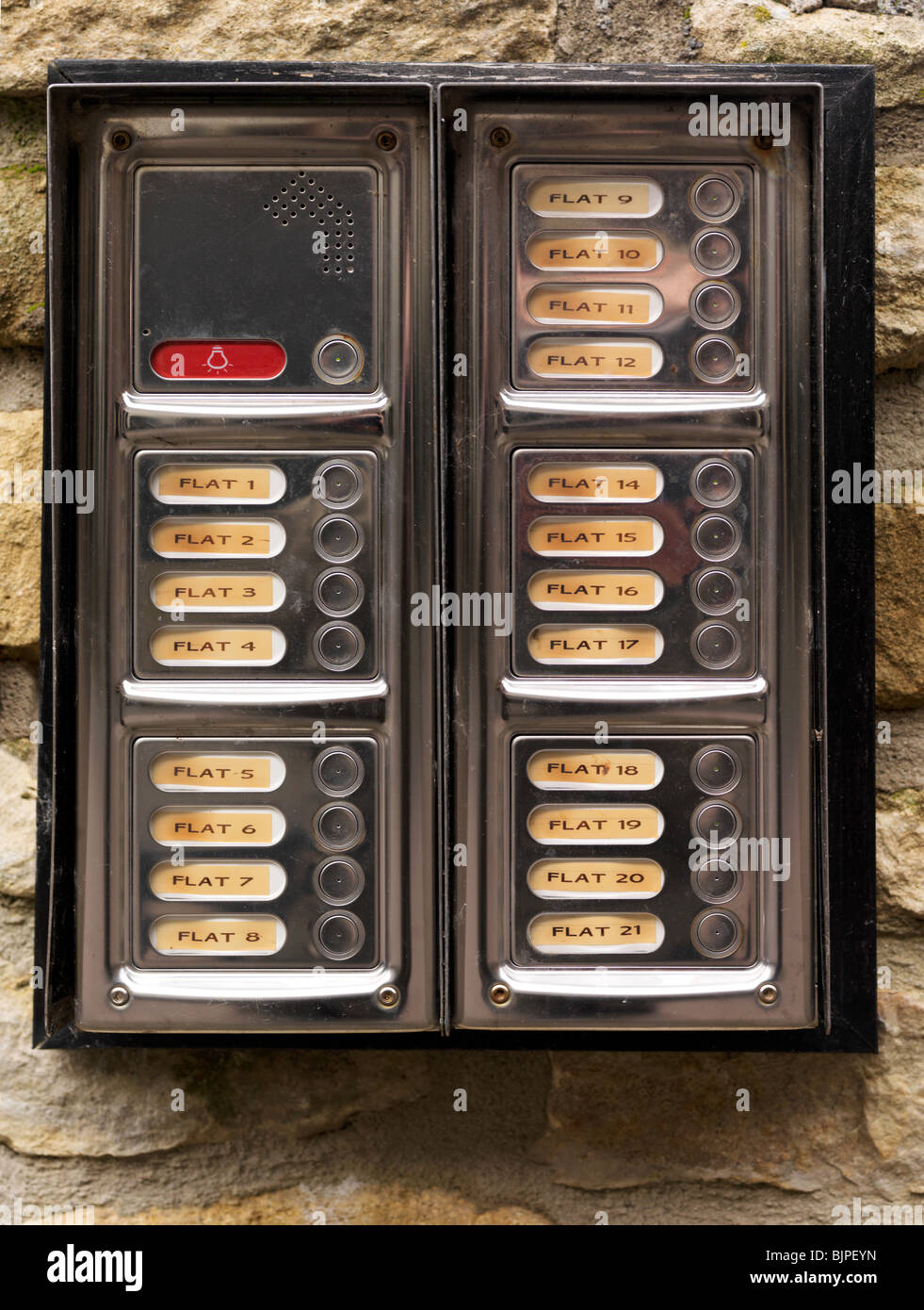 door entry system - Stock Image