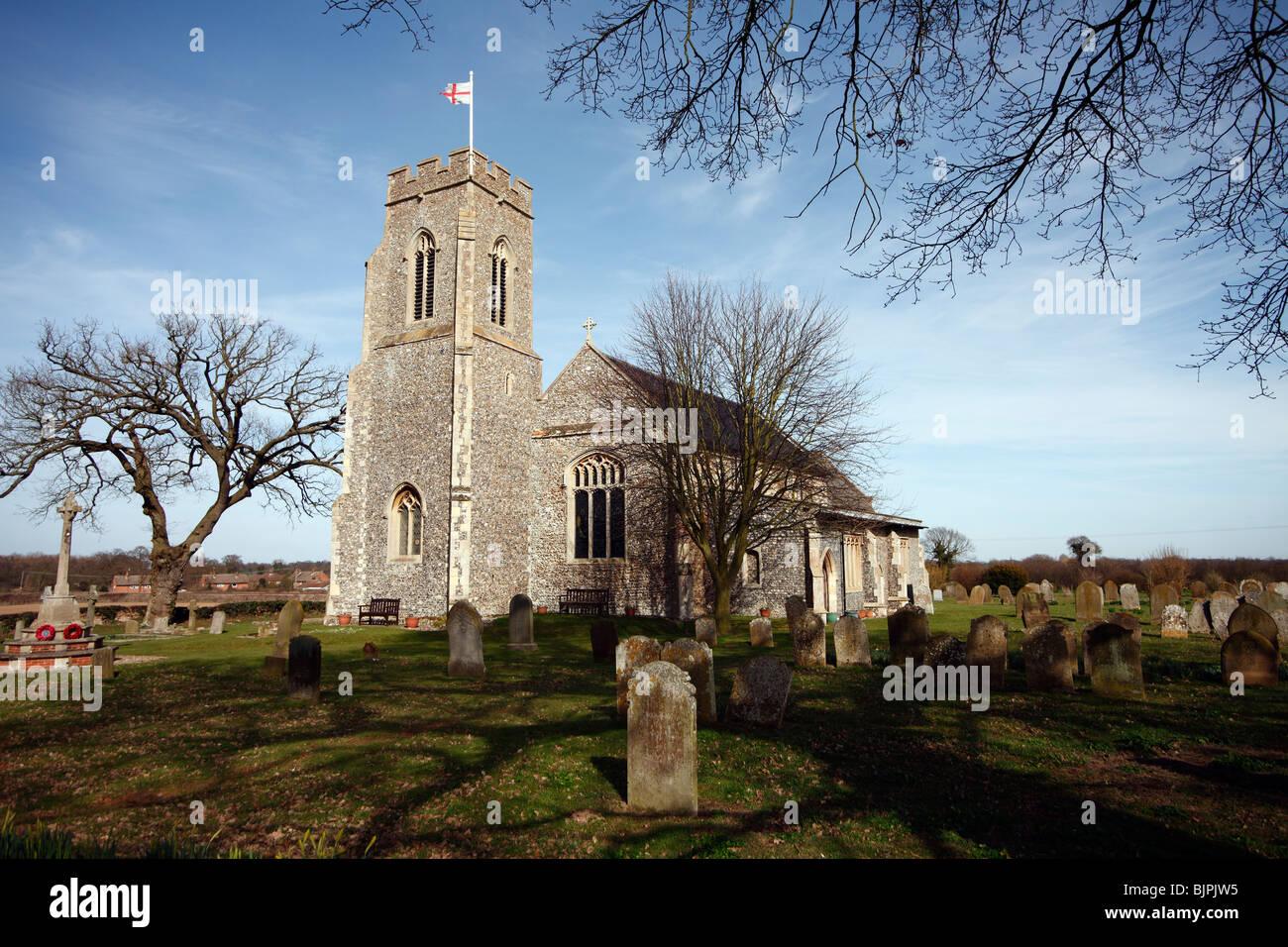 Church of Saint Bartholomew, Sloley, Norfolk - Stock Image