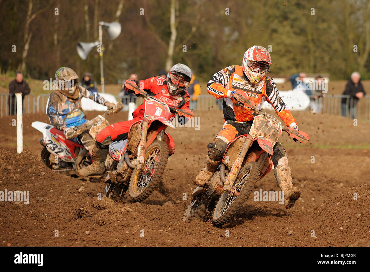 Mickael Pichon (101) at the 2nd round of the Maxxis British Motocross Championship at Mallory Park on the 21st March - Stock Image