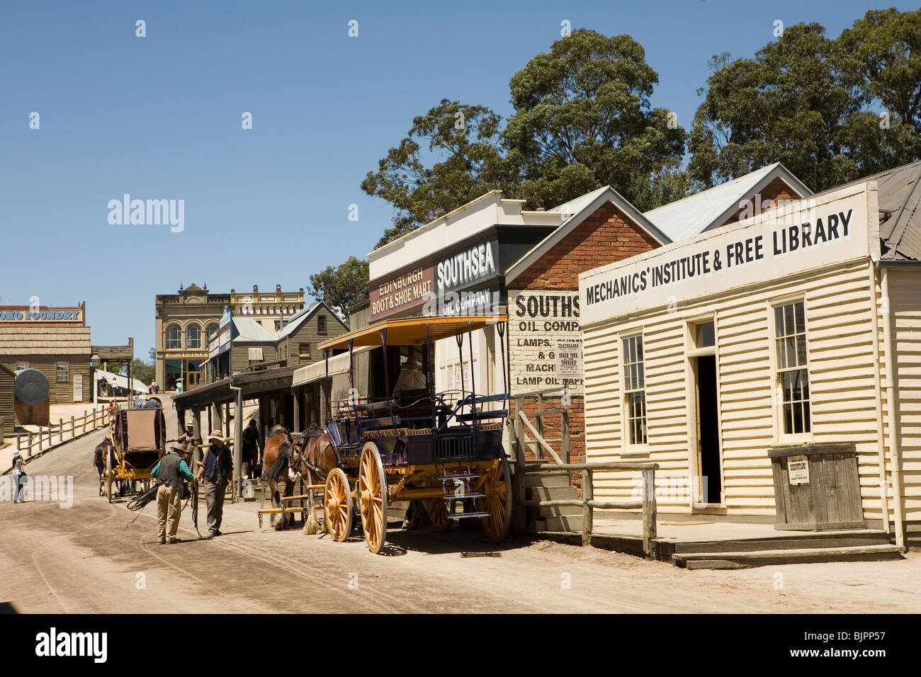 Sovereign Hill is an open air museum showing life during the