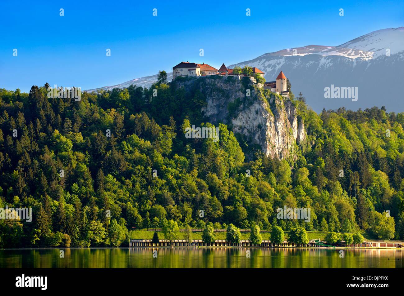 Bled Castle. Bled Slovenia. - Stock Image