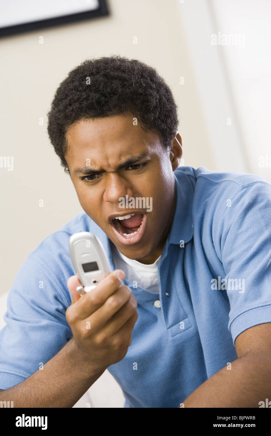 Man with cell phone Stock Photo