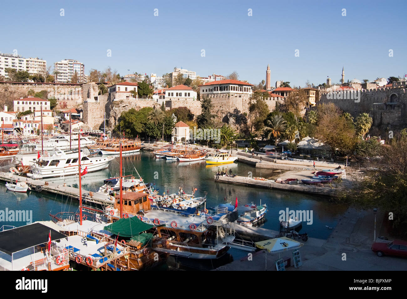 The harbour of Old Antalya, Turkey - Stock Image