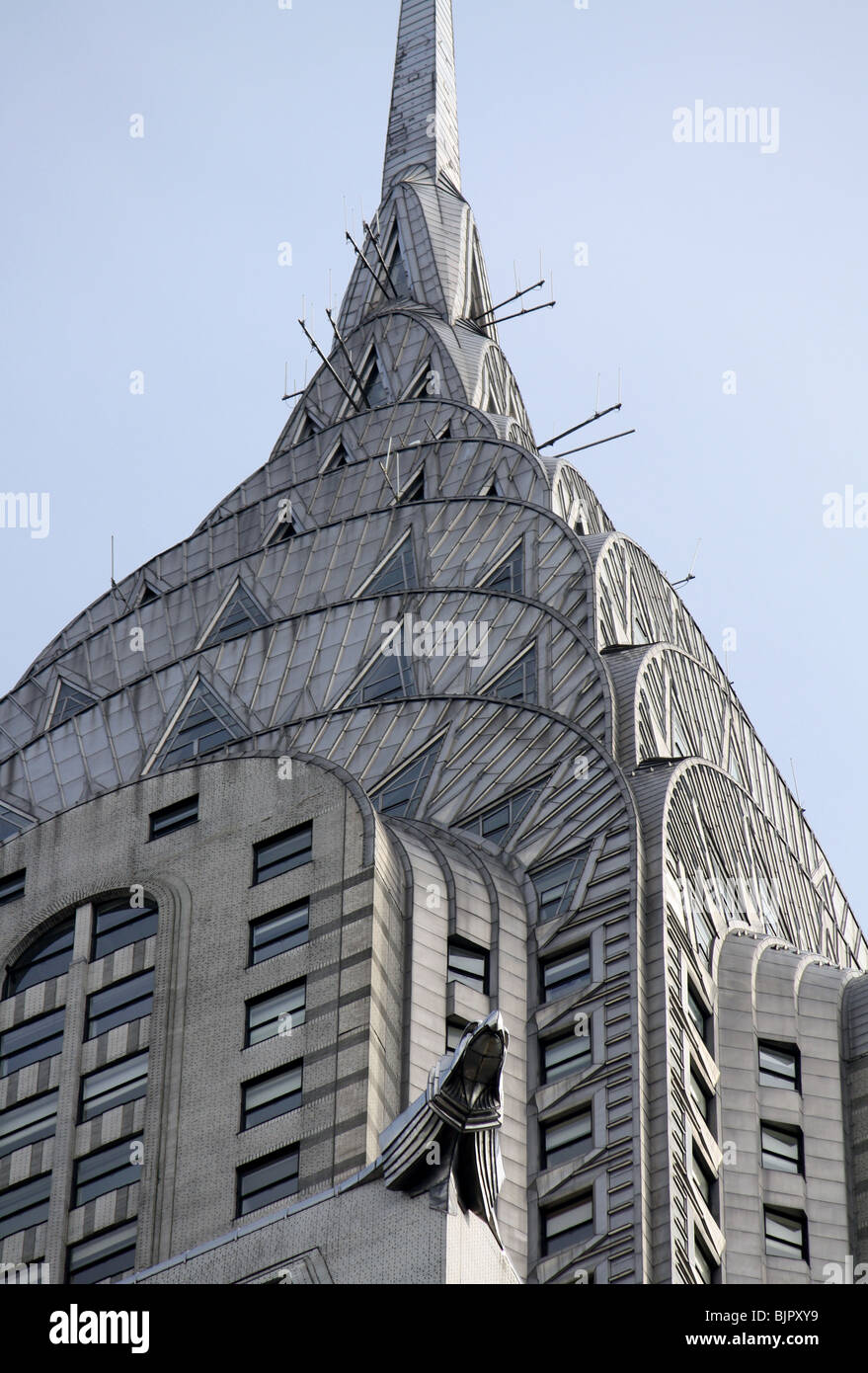 Top of the Chrysler Building, New York City. - Stock Image