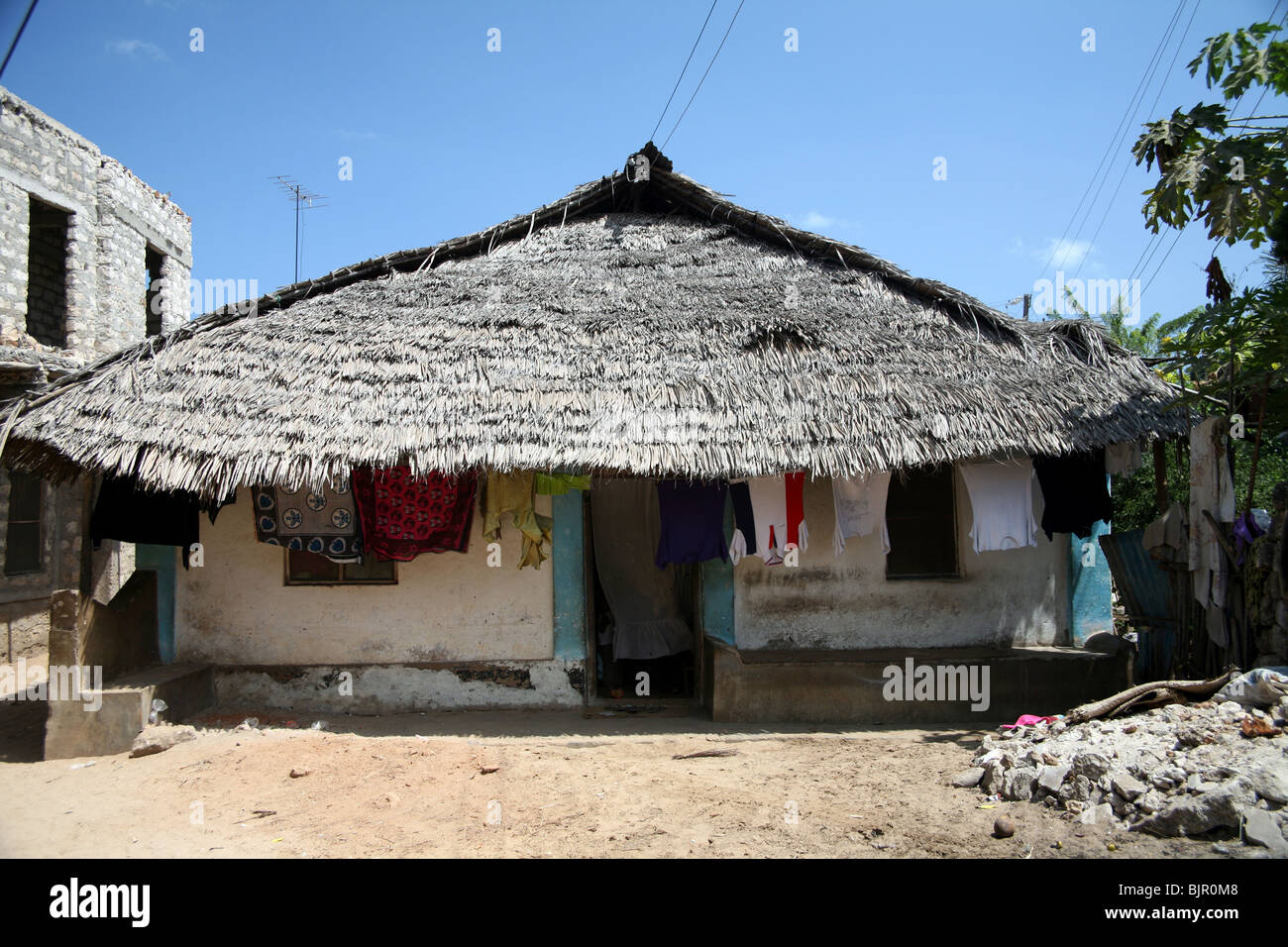 Traditional Swahili home on the Island of Lamu - Stock Image