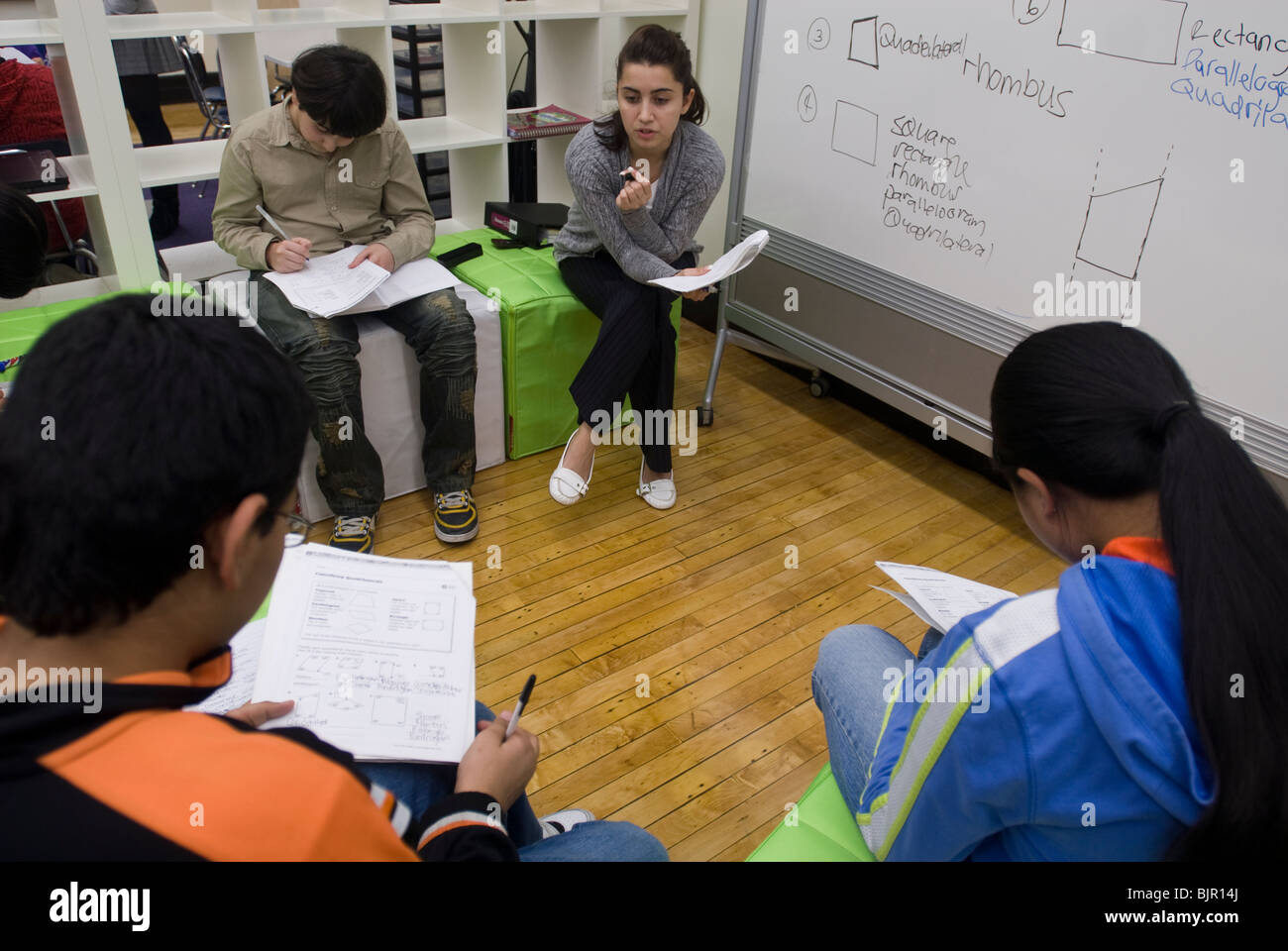 After-school math program in Brooklyn in New York - Stock Image