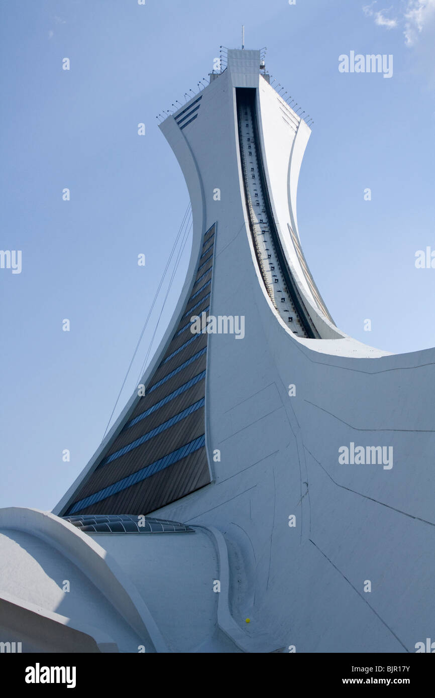 Montreal Olympic Tower, summer 2009 - Stock Image