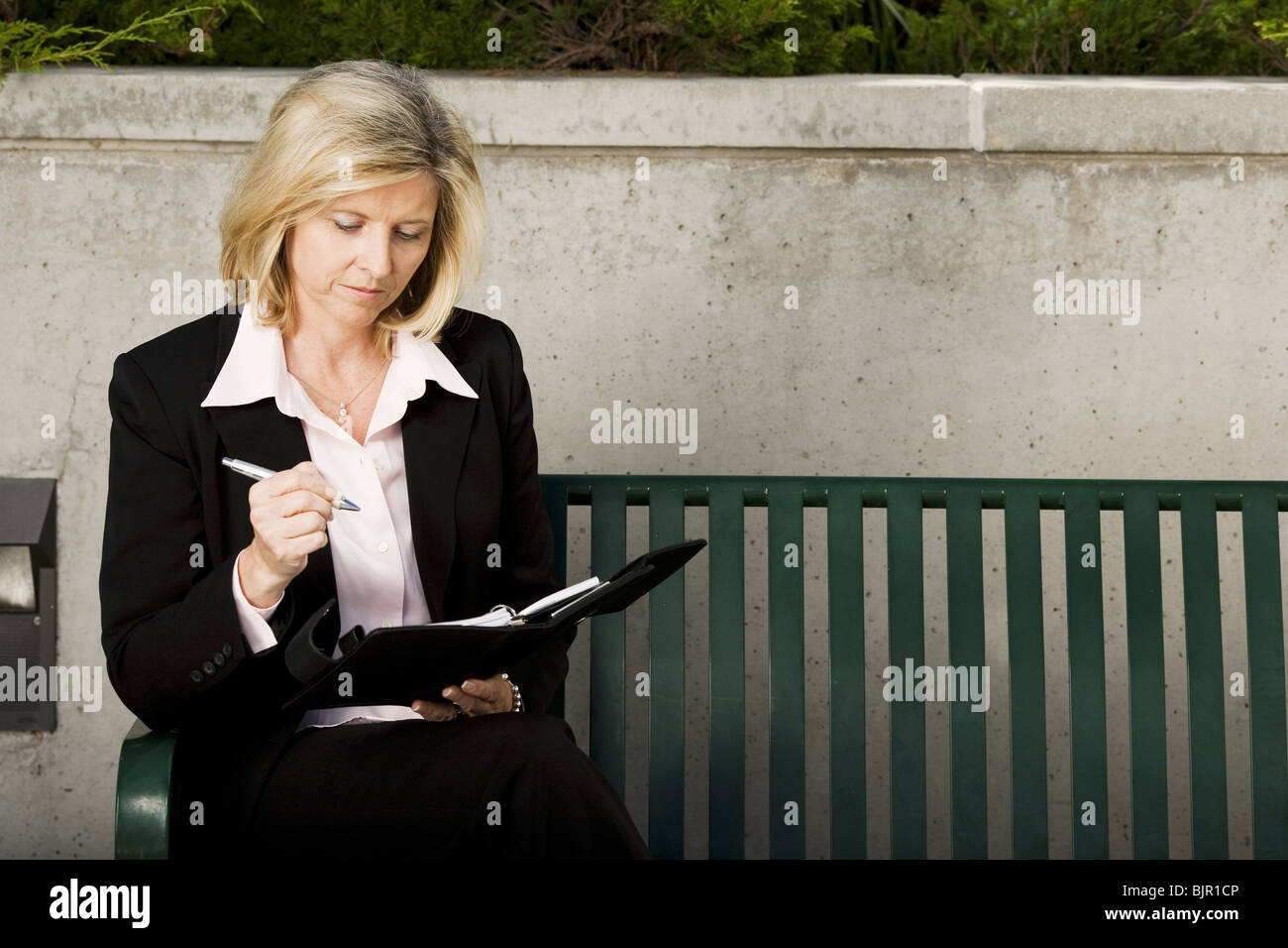 Woman on laptop - Stock Image