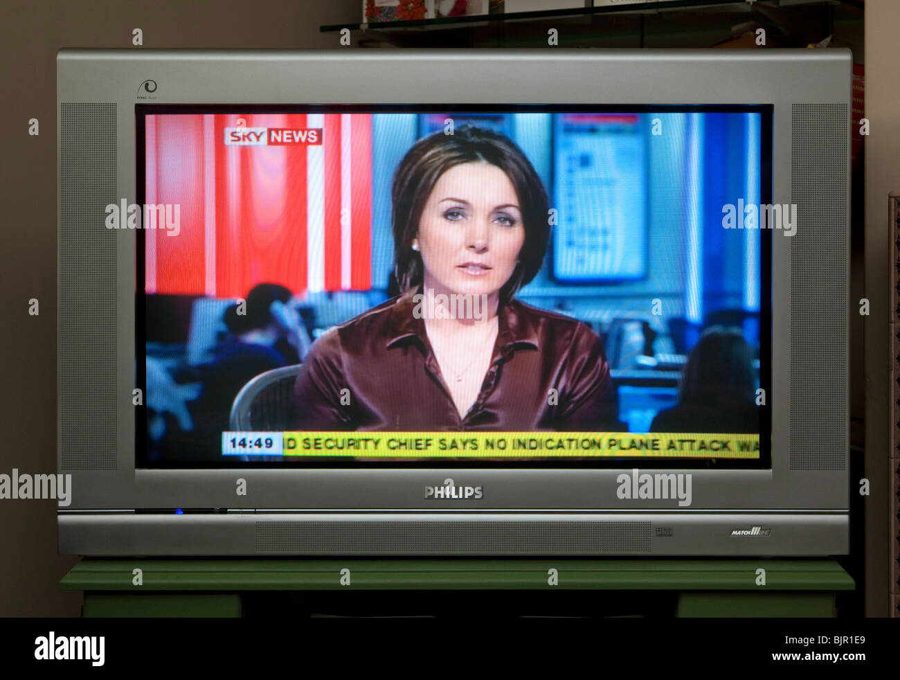 tv screen showing sky news channel stock photo 28780257 alamy