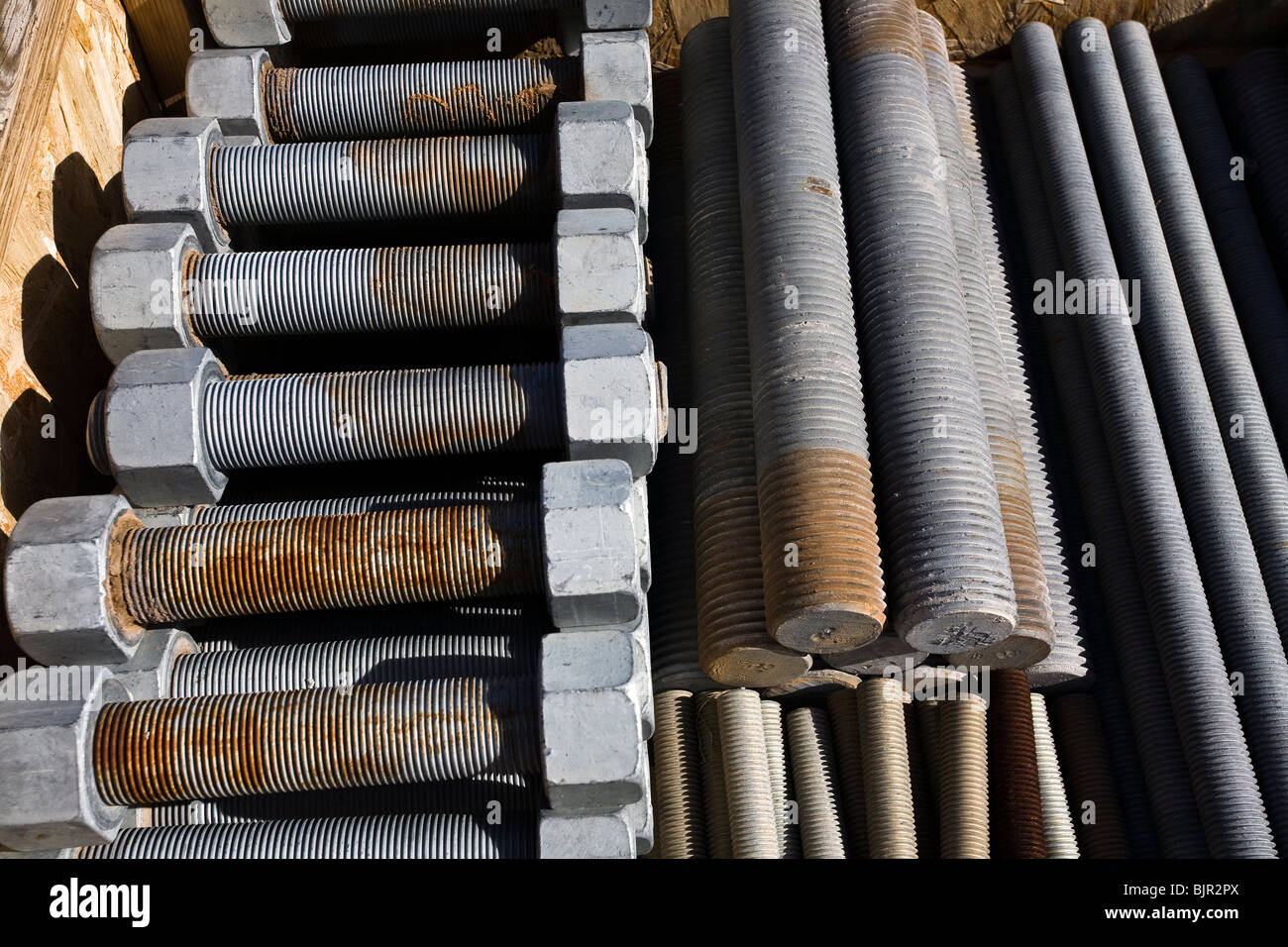 Very large threaded bolts and nuts Stock Photo: 28781282 - Alamy
