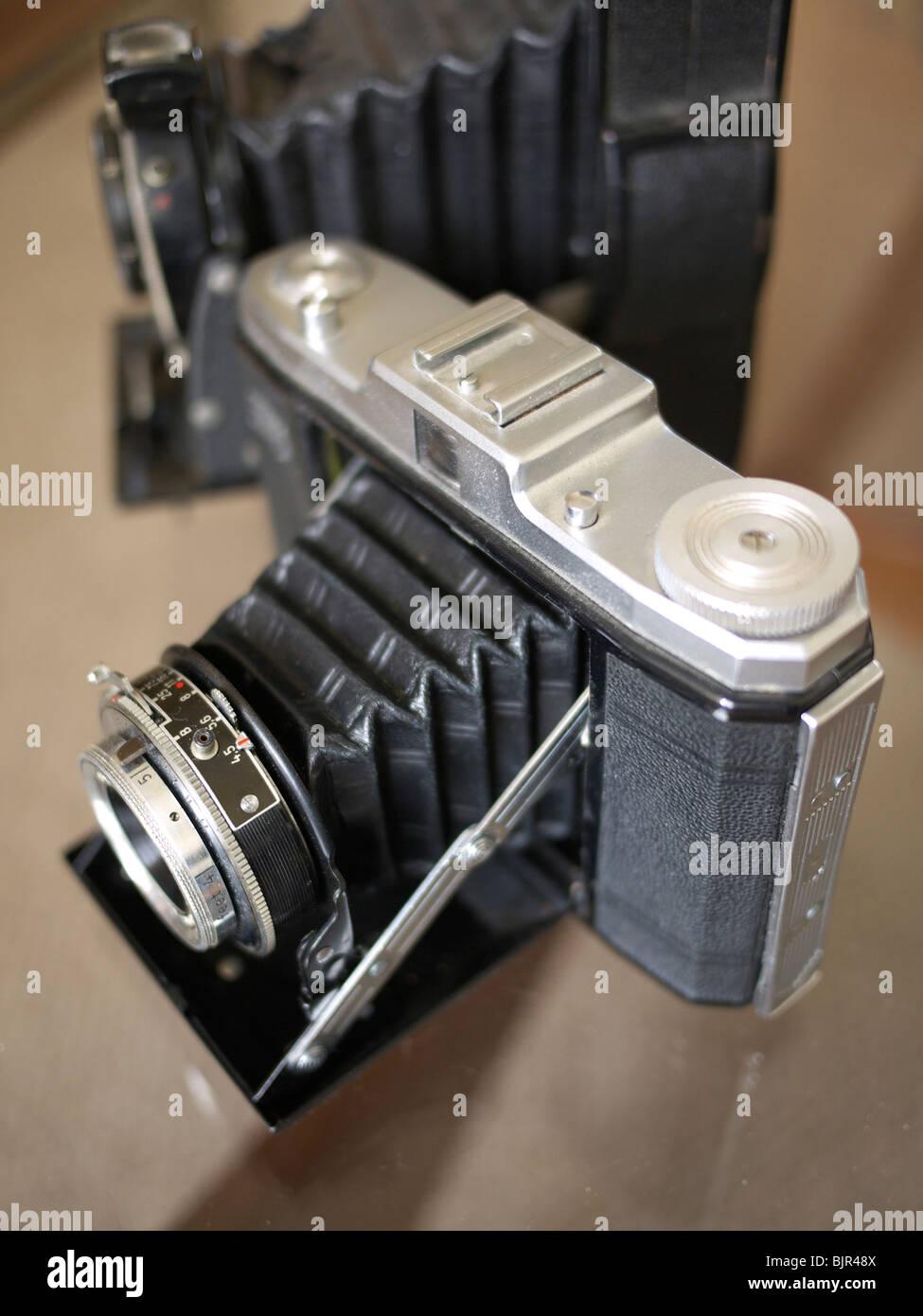 Vintage folding camera. - Stock Image