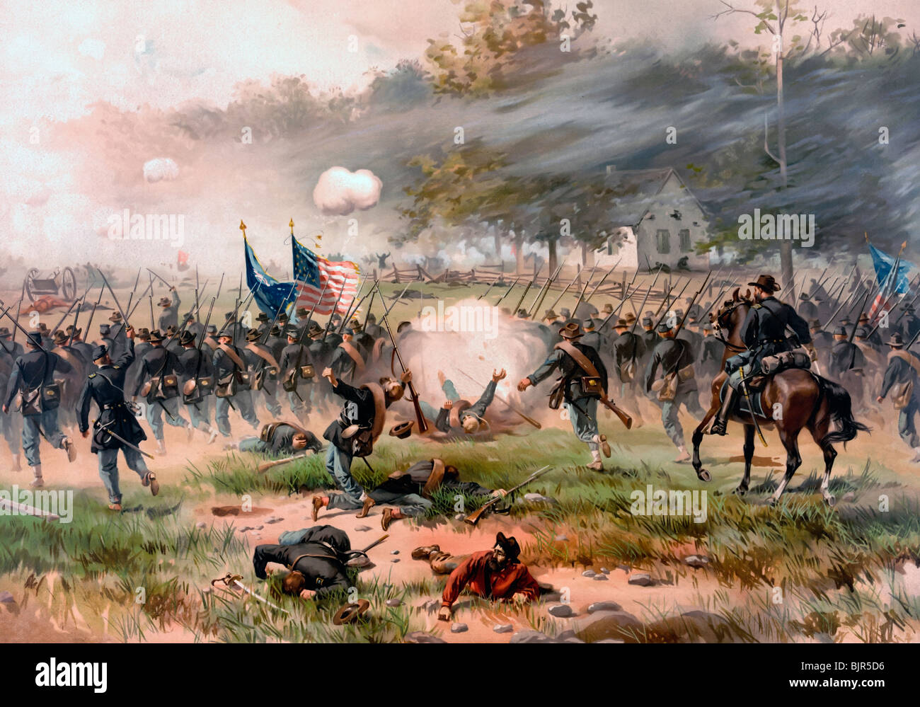 Battle of Antietam or Sharpsburg, fought on September 17, 1862 during the USA Civil War - Stock Image