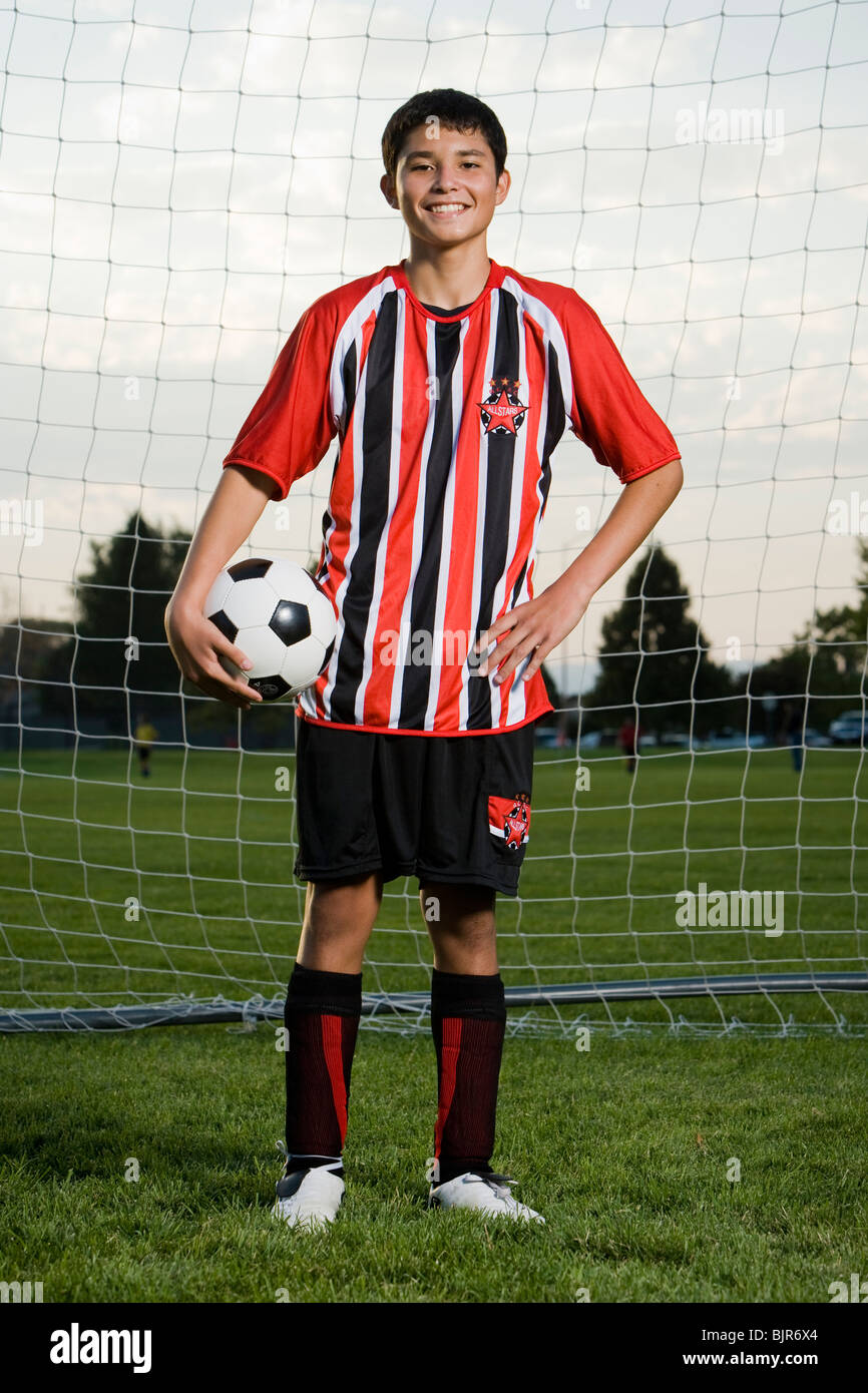 young soccer player - Stock Image