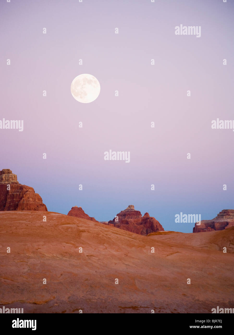 desert landscape at dusk - Stock Image