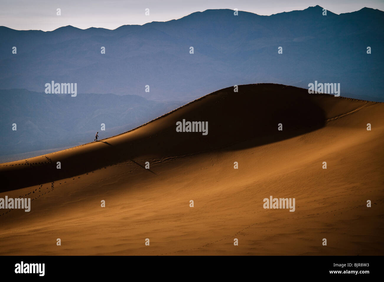 Sand dunes at Stovepipe Wells in Death Valley National Park, California, USA.  - Stock Image