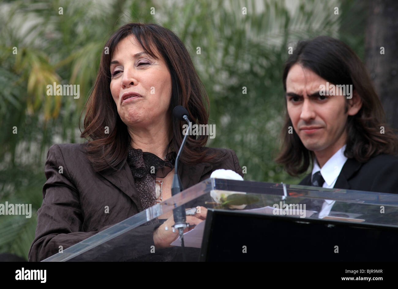 DHANI HARRISON OLIVIA HARRISON GEORGE HARRISON HONORED POSTHUMOUSLY WITH A STAR ON THE HOLLYWOOD WALK OF FAME HOLLYWOOD - Stock Image