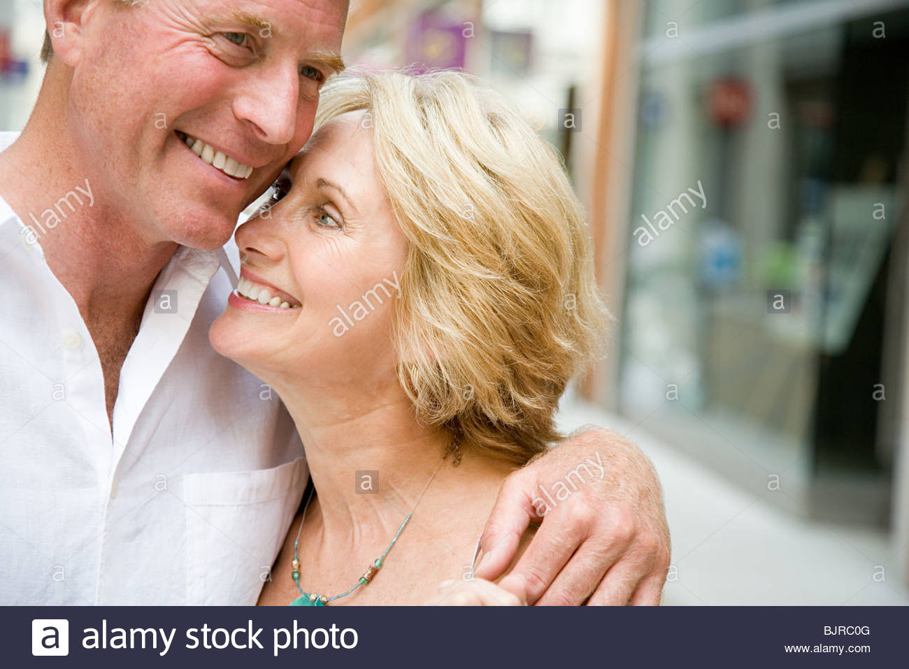 Happy senior couple - Stock Image