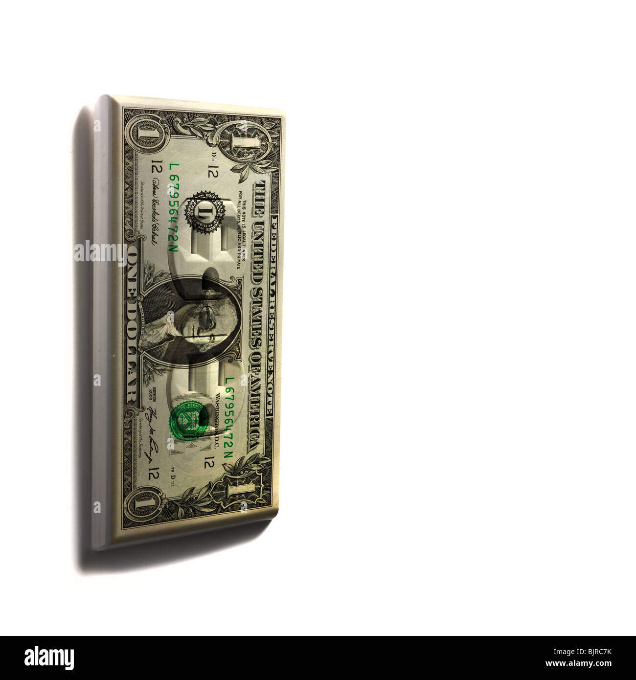 Digitally generated one dollar bill - Stock Image