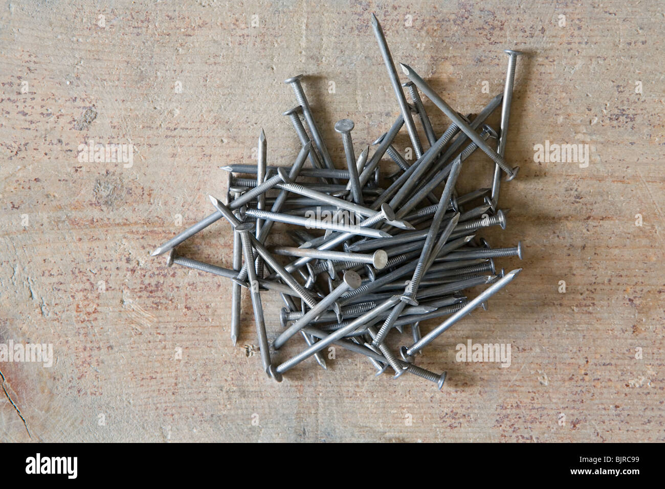 Pile of nails - Stock Image